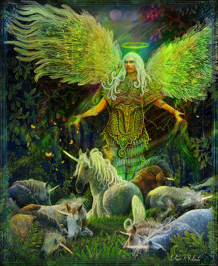 archangel raphael protector of unicorns steve roberts2